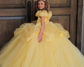 Disney Belle costume, Belle dress, Beauty and the Beast Dress, Disney Princess Dress, Princess costume, Ball Belle dress