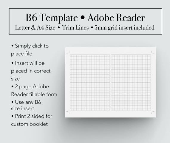 B Template Booklet Template B Printable Insert B Booklet