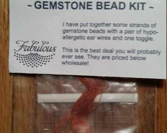 Bead Kit Sunstone round 4mm