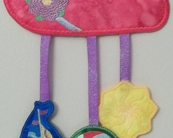"FSA Seasonal Mobile Summer Project  ( 5 ""Free Standing Applique"" Machine Embroidery Designs to make project from ATW )"