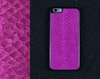 Pink Salmon Leather iPhone Case - iPhone 8/7/6S/6 - Made in Germany by Icecase