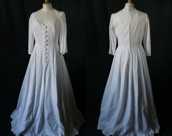 1980's French  wedding dress