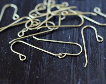 Earring Hooks, Raw Brass Ear Wires