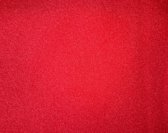1+ Yard Red Plush Fabric