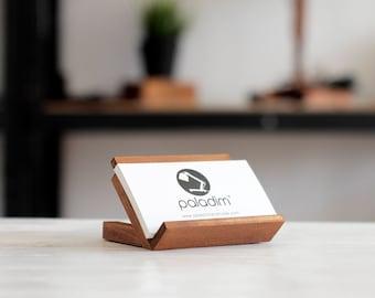Business card holder etsy business card holder business card stand desk decor desk card holder gift colourmoves