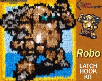 Chrono Trigger Robo - Latch Hook Kit - DIY Latch Hook 8*8 Inches