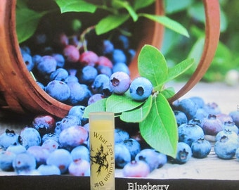 Blueberry Lip Balm  - 31 Luscious Flavors - 100% Natural