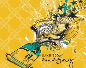 Make Today Amazing: Regular Yellow Notebook