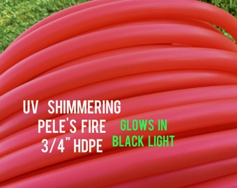 """UV Pele's Fire 3/4"""" HDPE Dance & Exercise Hula Hoop COLLAPSIBLE push button or minis - pink orange red coral"""