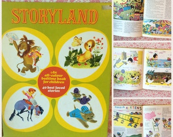 1970s 'Storyland' Compilation of 40 children's Stories / Poems beautiful illustrations