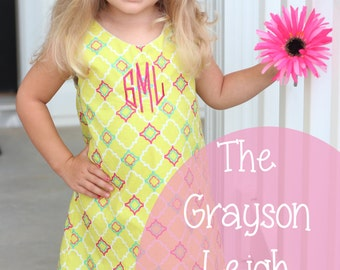 The Grayson Leigh Shift Dress- Instant PDF Download