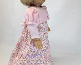 Regency Era dress, 18 inch doll clothes, historical doll clothing, historical doll dress, dress and jacket