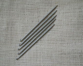 Knitting Needles with Hooks at the End - Traditional Portuguese Knitting 3.5 mm
