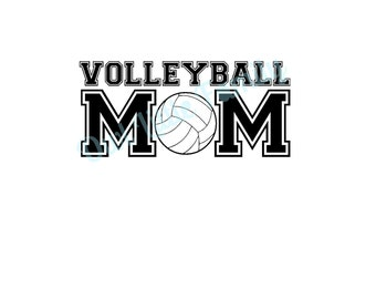 Volleyball Mom Iron On Vinyl Decal