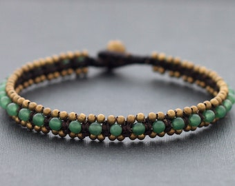 Jade Beaded Anklet