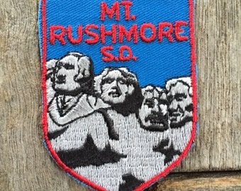 Mount Rushmore South Dakota Vintage Souvenir Travel Patch from Voyager
