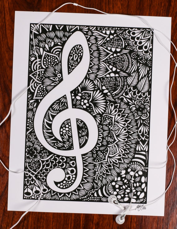 Zentangle - Black and White Melody