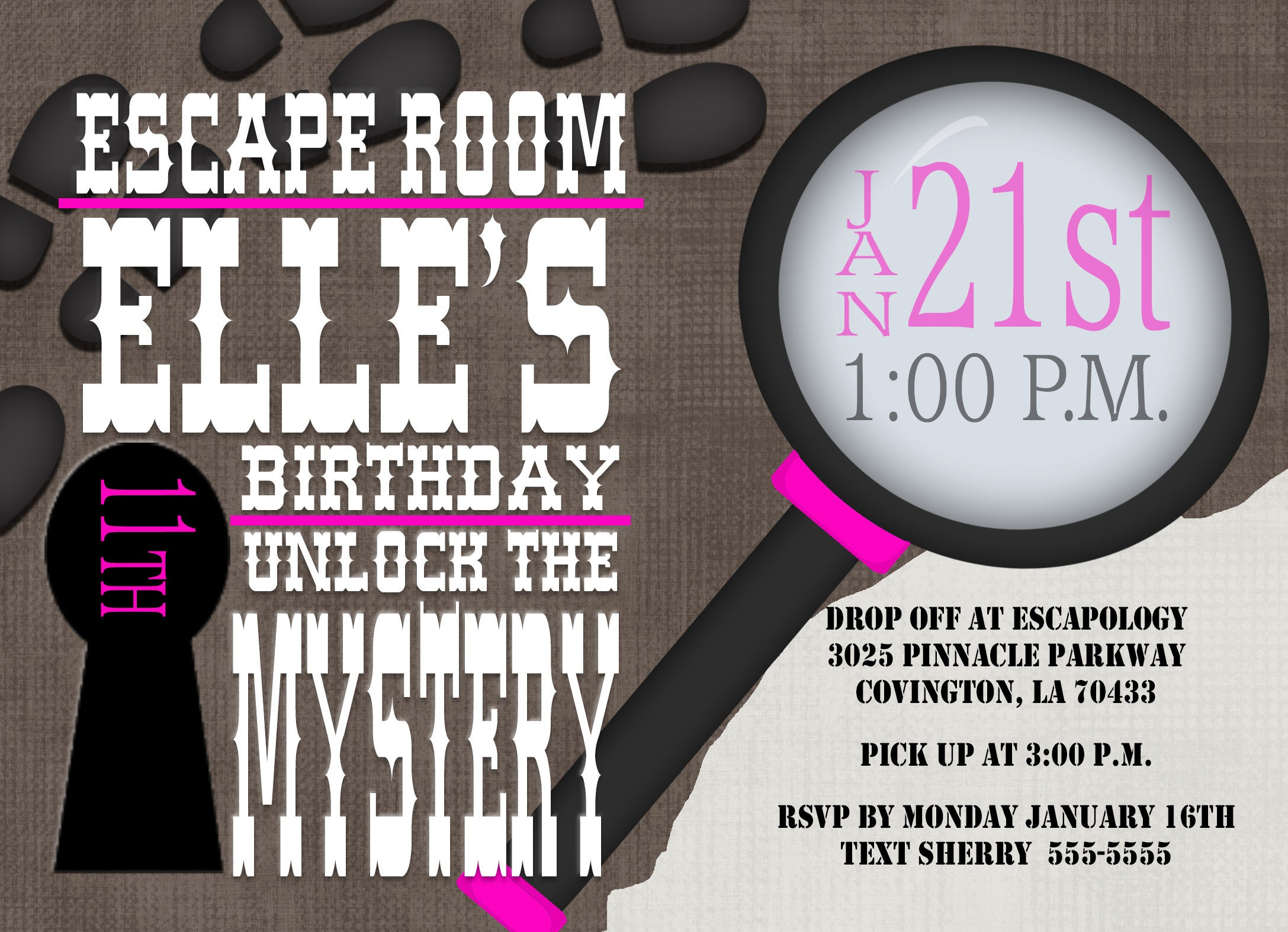 Escape Room Birthday Party Tween Birthday party Teen birthday