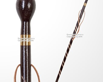 36' Solid Wooden Walking Cane Round Top Gentlemen's Spiral Fluted Walking Stick