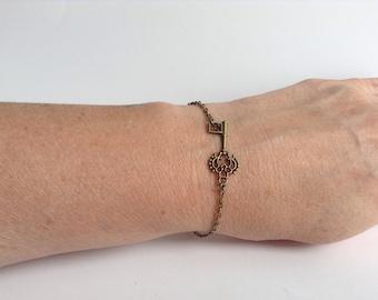 Steampunk Skeleton Key Bracelet
