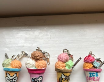 Ice cream in the cups