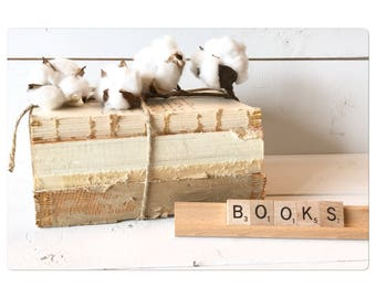 Deconstructed book stack
