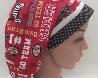 Ohio State Surgical Scrub Cap, Chemo Cap, Nurse Hat, Scrub Hat