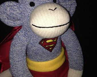 SUPERMAN Sock MONKEY Doll