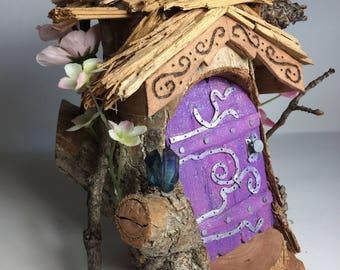handmade mini fairy garden house / terrarium accessory / terrarium
