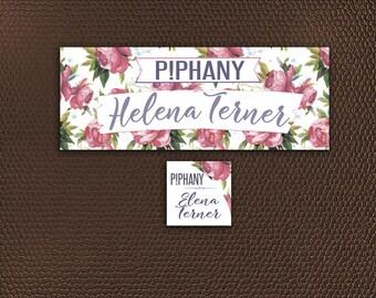 Piphany Facebook Cover Photo - Online Shop Sign - Social Media Banner - Piphany FB Cover Image - Floral Design