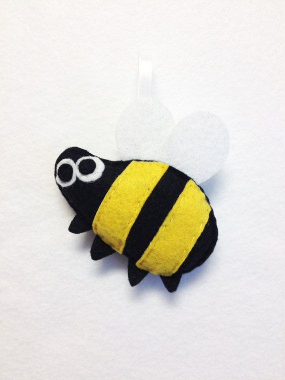 Bumble Bee Ornament, Christmas Ornament, Milton the Bumblebee, Felt Animal, Felt Insect, Bug