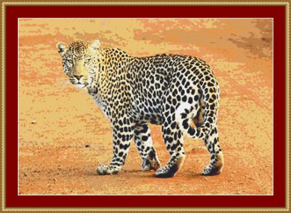 Leopard Cross Stitch Pattern /Digital PDF Files /Instant downloadable