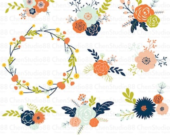 Beautiful Vintage Floral Vector
