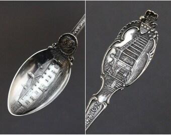 Sterling Silver Mount Vernon Souvenir Spoon, Historical Souvenir Spoon, George Washington Souvenir, Sterling Historical Spoon
