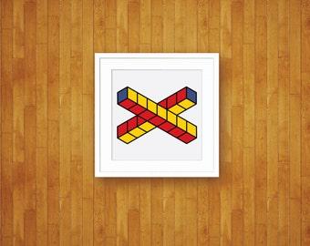 Cooperation - Abstract Pop Art Mod Geometric Print