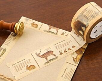 VINTAGE ANIMALS WASHI Tape | Mt Washi Tape | Korean Washi Tape | Planner Sticker | Deco Tape | Scrapbooking | Japanese Tape | Animal Book