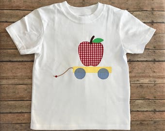 Apple Pull Toy Applique Shirt