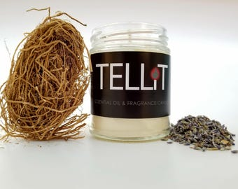 Lavender and Vetiver - TELLiT essential oil & fragrance soy candles