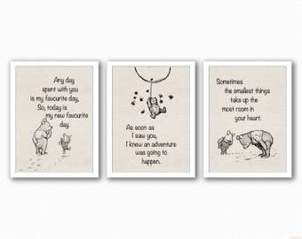 Winnie The Pooh Rustic Trio - changeable colours