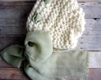 Baby Knit Hat, Baby Bonnet, Newborn Baby Hat, Newborn Baby Girl Hat, Newborn Photo Prop