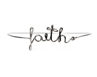 Stainless steel US WORDS bracelet | Dedicated word | Faith | Silver gloss | Personalized | Minimalist jewelry