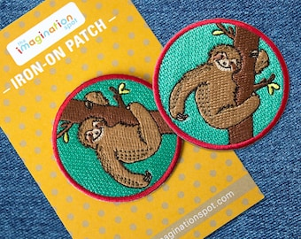 Sloth patch - Iron on Patches - Embroidered Patch - Cute Patches - Patches for Jackets - Sew on patch -Patch Game-Accessories-Denim Patches