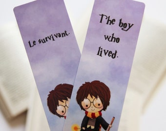 The boy who lived paper bookmark