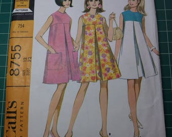 McCall's 1967 Pattern 8755 Size 12 Bust 32