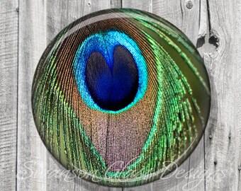 Peacock Feather Pocket Mirror - Green Peacock Compact Mirror - Peacock Feather Photo Image - Compact Mirror - Bridesmaid Gift A78