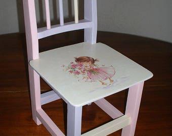 SMALL wooden chair / pretty dancer