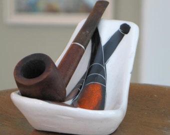 Mid Century Modern Ceramic Pipe Rest