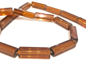 ❤ X 19 glass beads long 20x5mm ❤