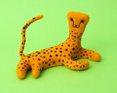 Cheetah from felt