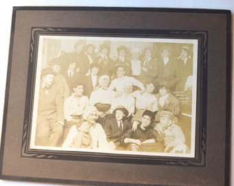 Photos of Costume Party 1915, Black and White Photos, Cross Dressers Set of 2